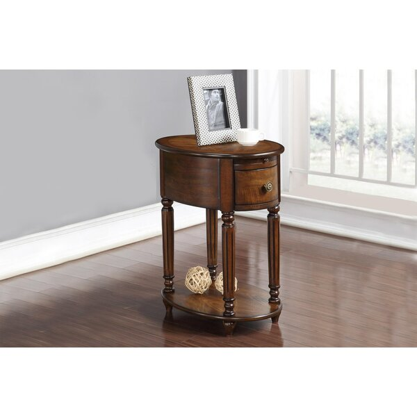 Alcott Hill Seger Chair End Table With Power Outlet Wayfair