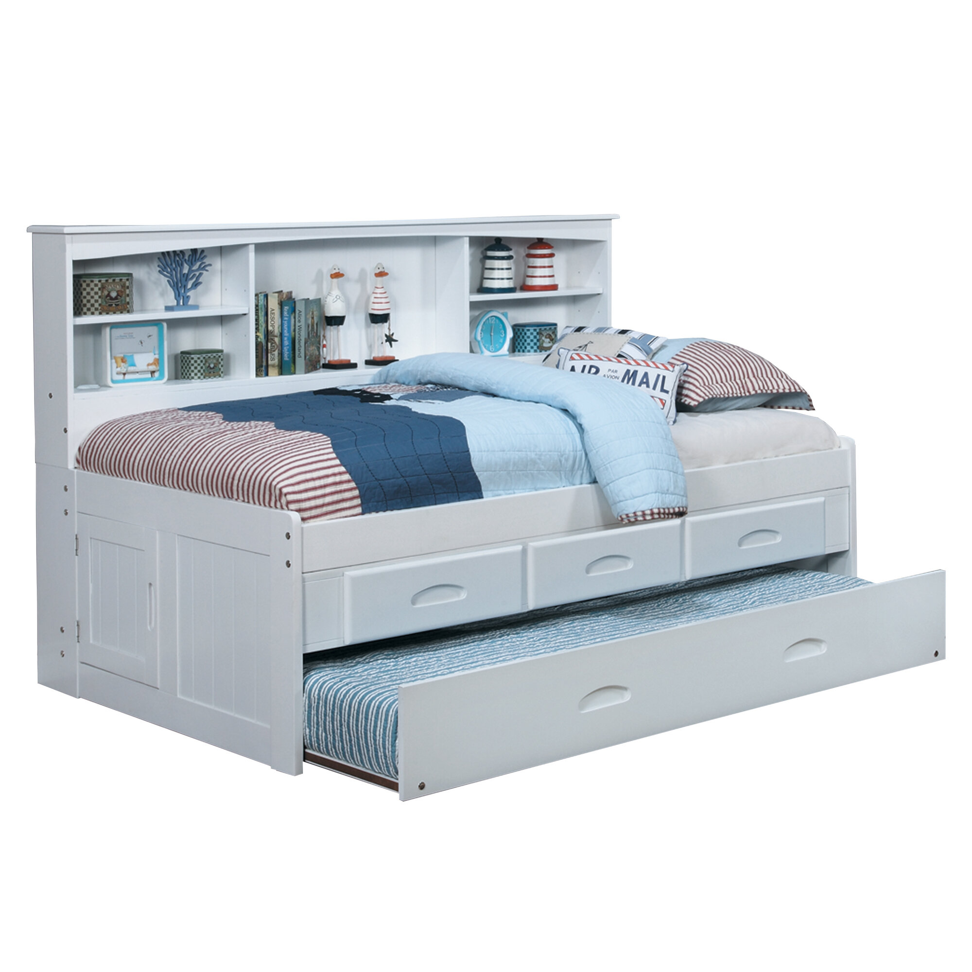 Kaitlyn Mate's & Captain's Bed with Trundle & Reviews | AllModern