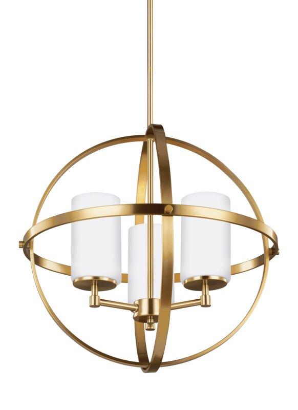 haworth 3light unisphere globe pendant