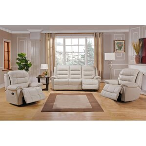 Shantell 3 Piece Leather Living Room Set by Red Barrel Studio