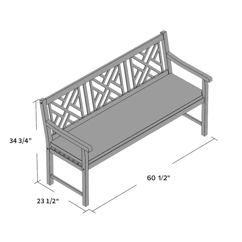 Alcott Hill Stanwich 3 Seat Acacia And Polyester Garden