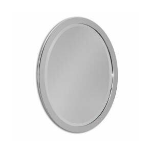 Chrome Metal Oval Bathroom Vanity Wall Mirror
