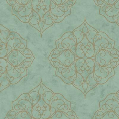 Kashmir Caravan Stripes Wallpaper Roll