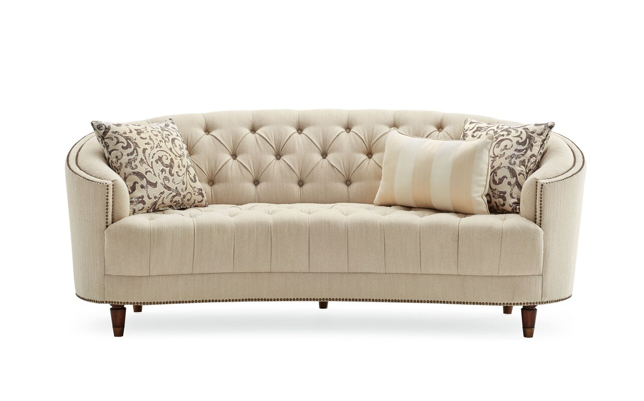 Ordinary Curved Sofas Part - 4: Frederic Tufted Curved Sofa
