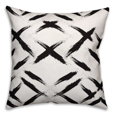 Brayden Studio Novotny Brush Strokes Size: 18 x 18, Type: Pillow Cover