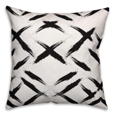 Brayden Studio Novotny Brush Strokes Size: 20 x 20, Type: Pillow Cover