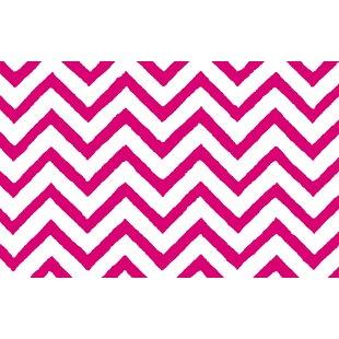 Zig Zag Chevron Pink Area Rug