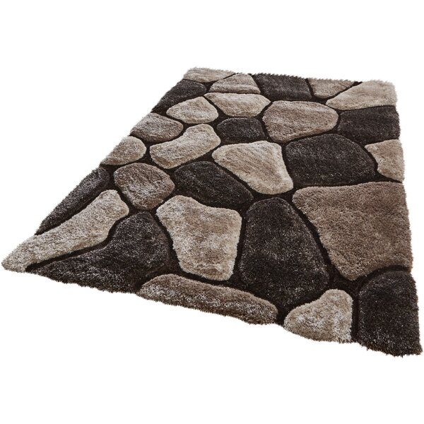 Wade Logan Pedro Hand Tufted Beige Brown Area Rug