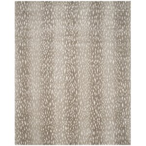 Florus Hand-Knotted Gray Area Rug