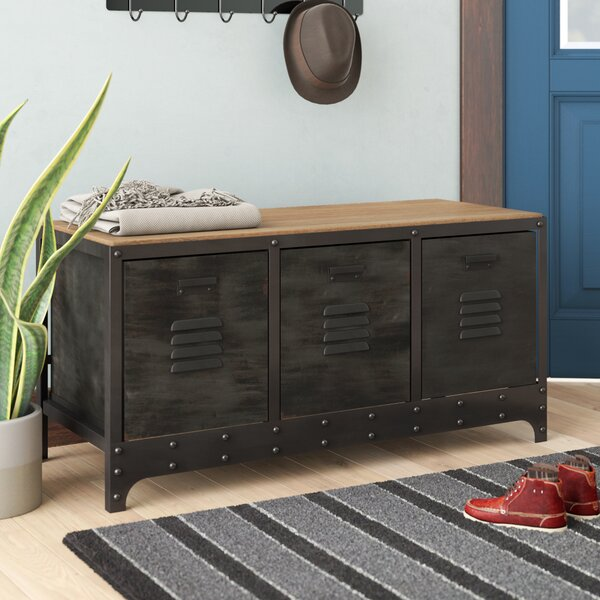 Wood And Metal Storage Bench Amp Reviews Birch Lane