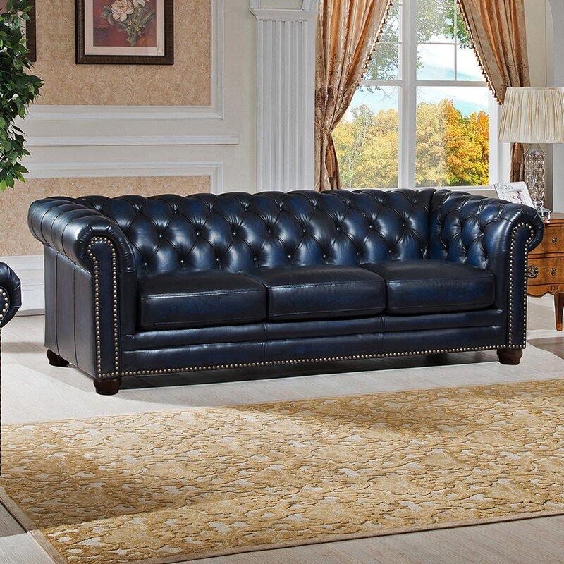 Nebraska Leather Chesterfield Sofa