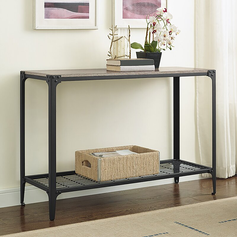 Loon Peak Arboleda Rustic Wood Console Table Amp Reviews