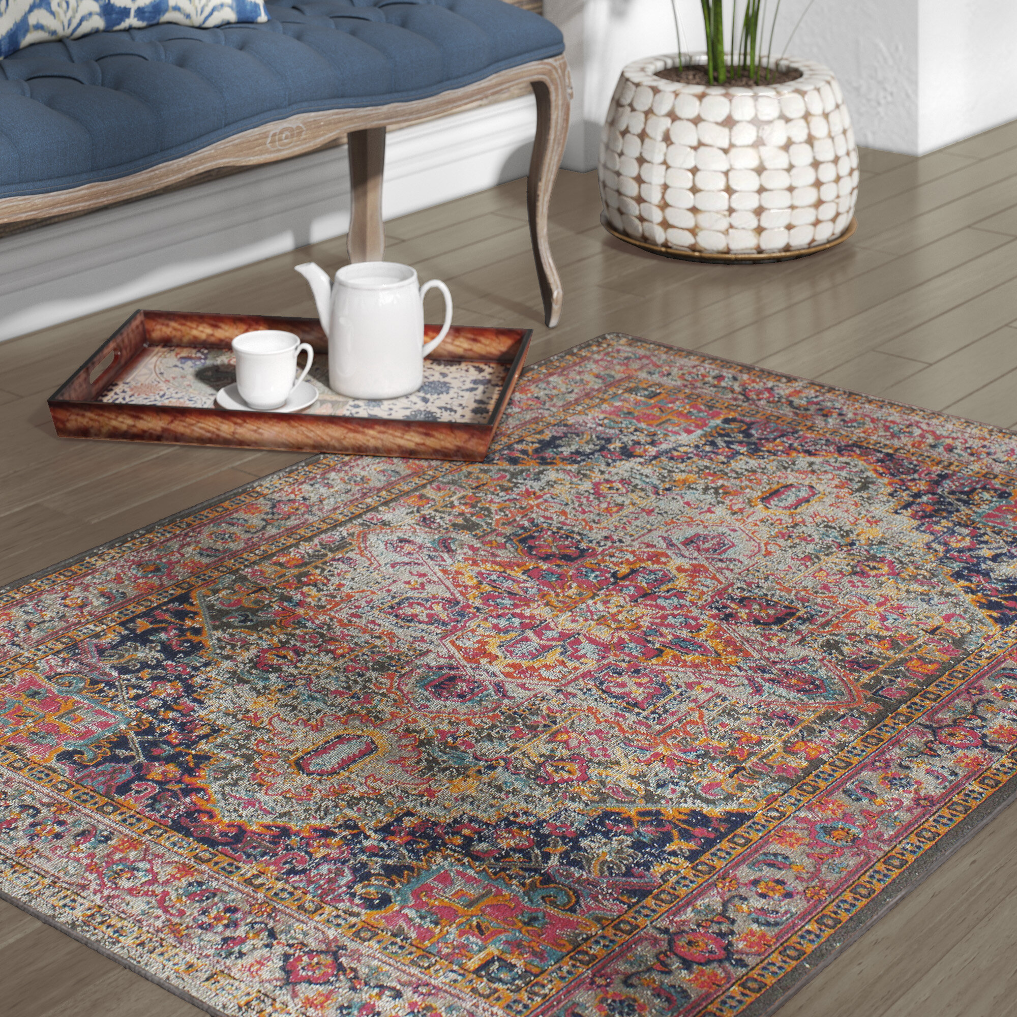 Mistana Ashburn Multi Colored Area Rug Reviews Wayfair