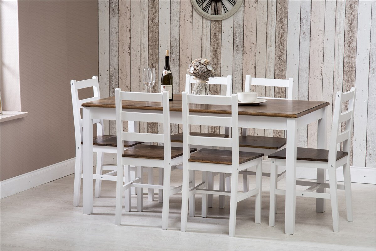 laurel foundry essgruppe manville mit 6 st hlen bewertungen. Black Bedroom Furniture Sets. Home Design Ideas