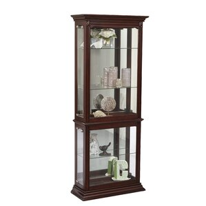 Adaline Lighted Curio Cabinet by Alcott Hill