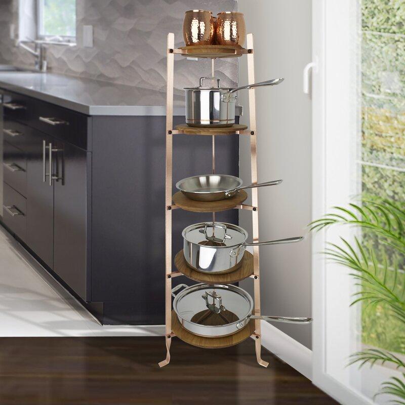 Enclume Handcrafted 5 Tier Gourmet Cookware Freestanding Pot Rack
