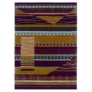 Safford Hand-Tufted Green/Garnet Area Rug