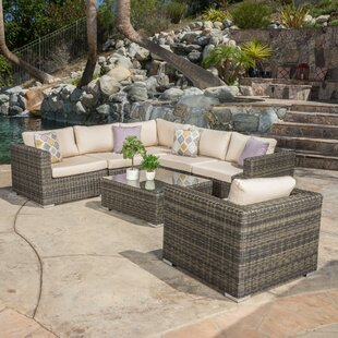 Myres 7 Piece Sunbrella Sectional Set With Cushions
