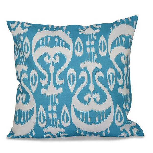 Crossett Ikat Geometric Outdoor Throw Pillow Reviews Allmodern