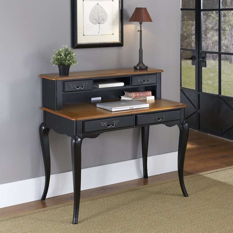 French Countryside Writing Desk With Hutch