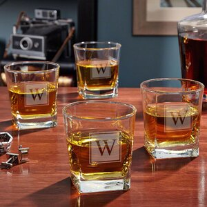 Personalized Rutherford 10 oz. Whiskey Glass (Set of 4)