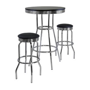 Mackenzie 3 Piece Pub Table Set