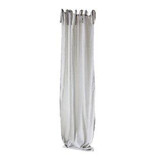 Bautista Tie Top Cotton Voile Single Curtain Panel