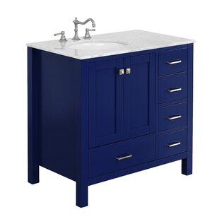 Dark Blue Bathroom Vanity | Wayfair