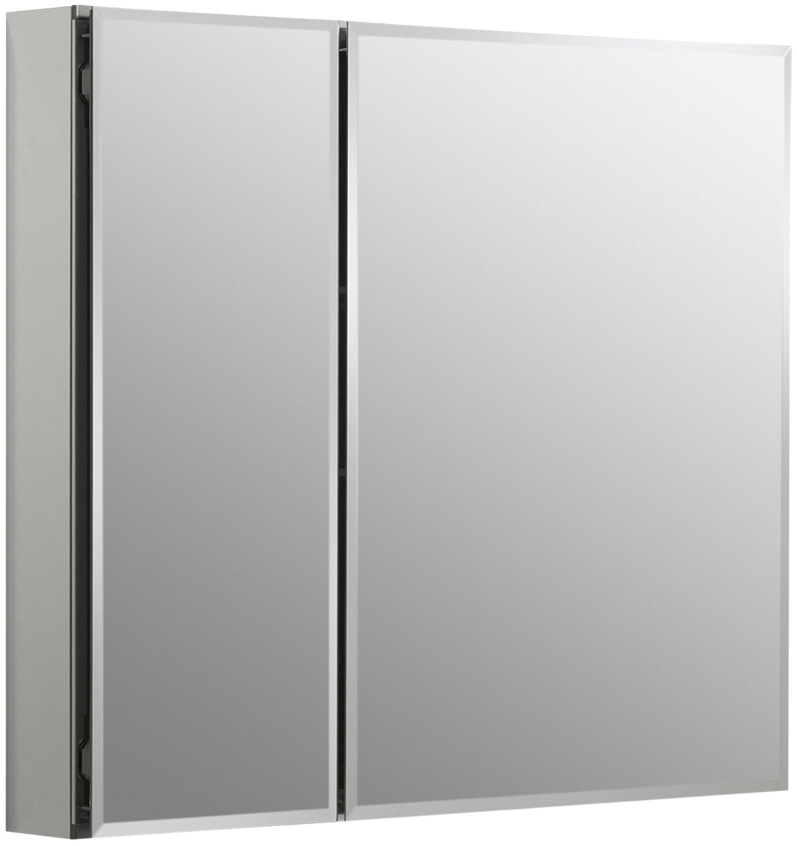 K Cb Clc3026fs 30 X 26 Aluminum Two Door Medicine Cabinet With Mirrored Doors Beveled Edges