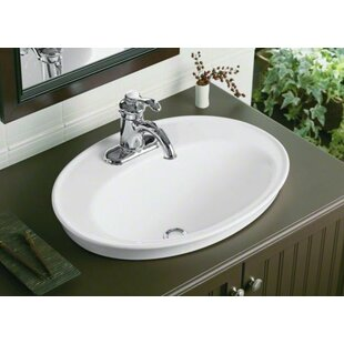2 Kohler Serif Ceramic Oval Drop In Bathroom Sink