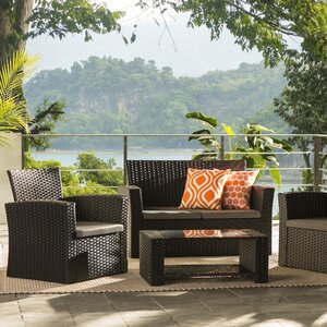 Charmain 4 Piece Deep Seating Group with Cushion