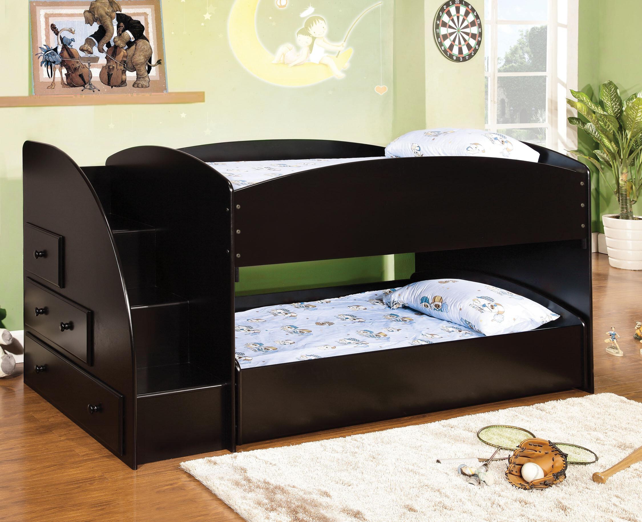 Hokku Designs Jamie Twin Bunk Bed With Storage Reviews Wayfair