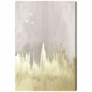 Offwhite Starry Night Canvas Print