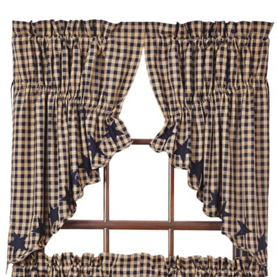 Diana Scalloped Prairie Swag 36 Curtain Valance