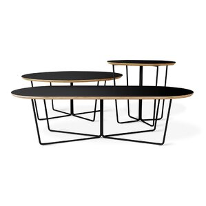Array Coffee Table Round Black Powder Coat b..
