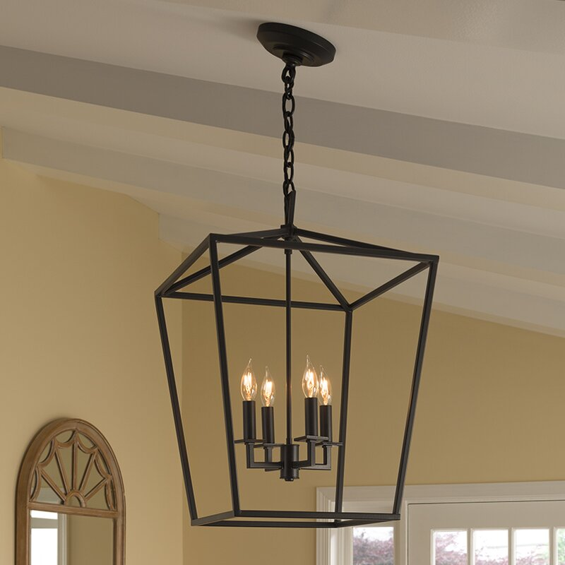 Foyer Ceiling Queen : Norwell lighting cage light foyer pendant reviews