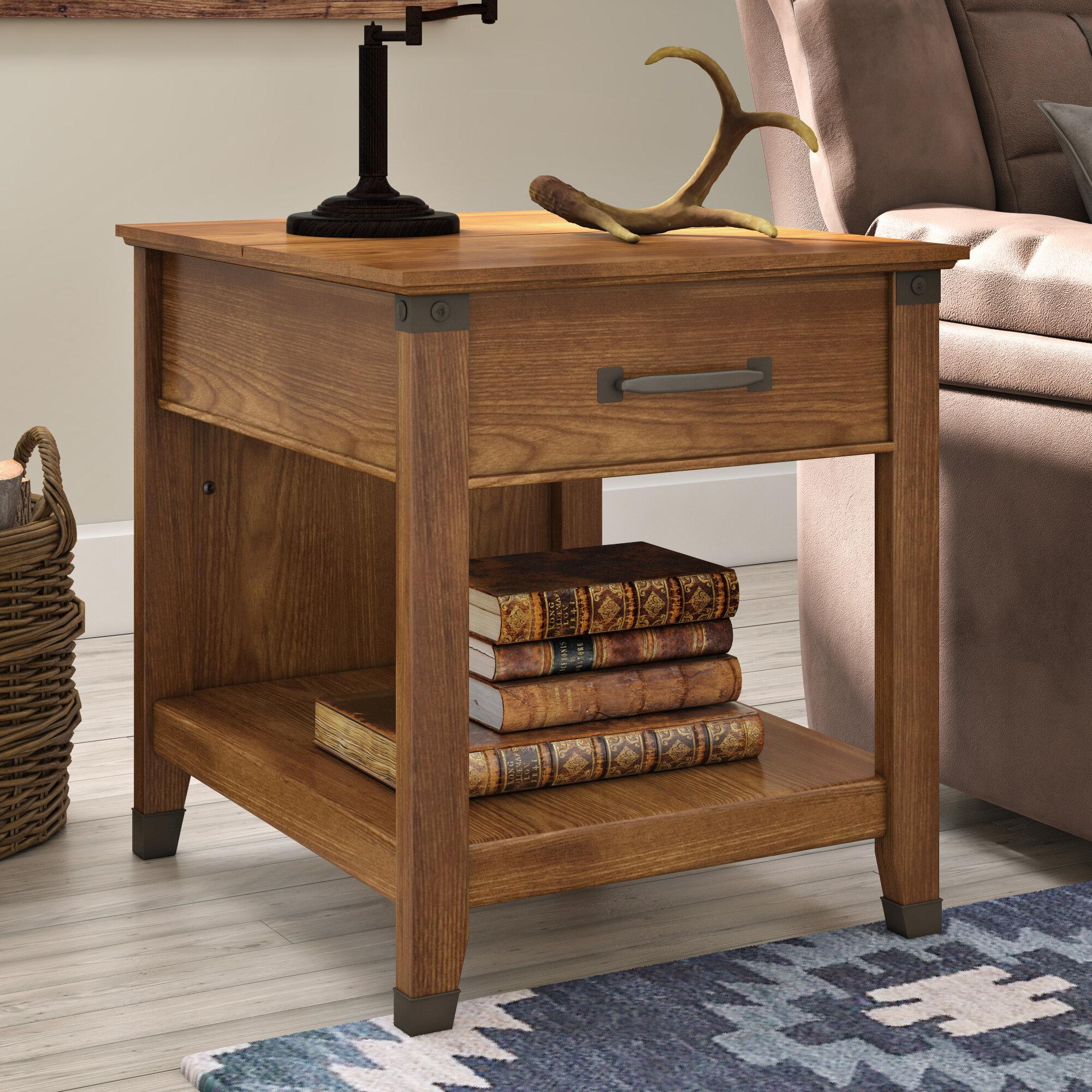 Trent Austin Design Chappel End Table With Storage U0026 Reviews | Wayfair