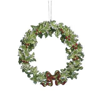 acrylic green wreath ornament
