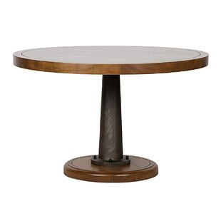 Yacht Solid Wood Dining Table with Cast Pedestal