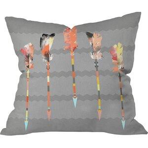 Burgess Indoor/Outdoor Feathers Throw Pillow
