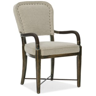 Crafted Upholstered Dining Arm Chair