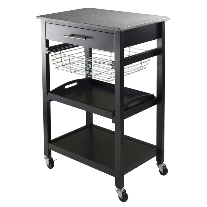Winsome Julia Kitchen Cart With Granite Top Reviews Wayfairca