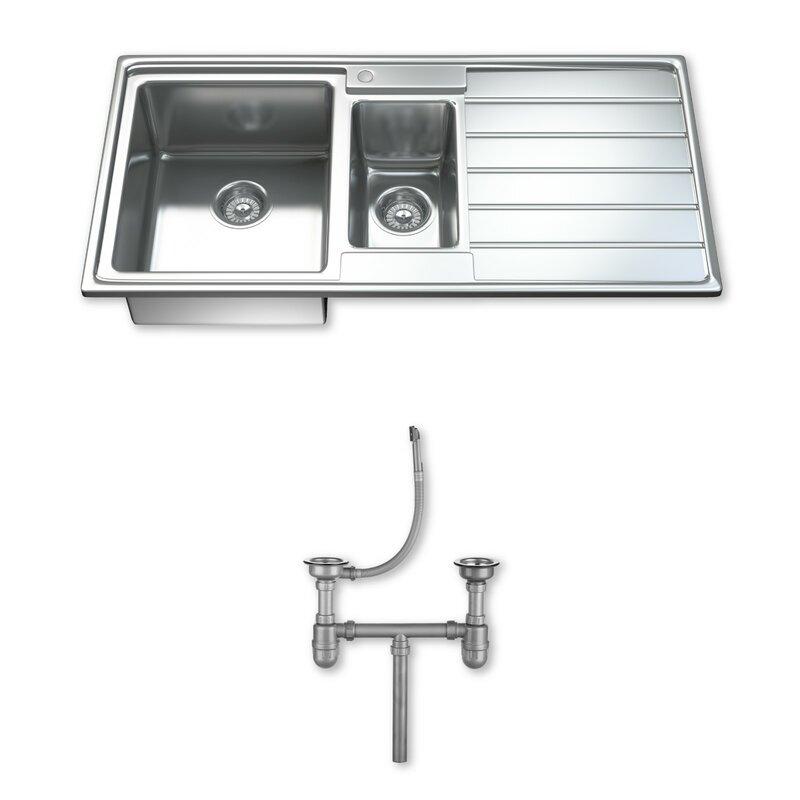 1.5 Bowl Kitchen Sink Dihl ultra modern 97cm x 50cm 15 bowl inset kitchen sink reviews ultra modern 97cm x 50cm 15 bowl inset kitchen sink workwithnaturefo