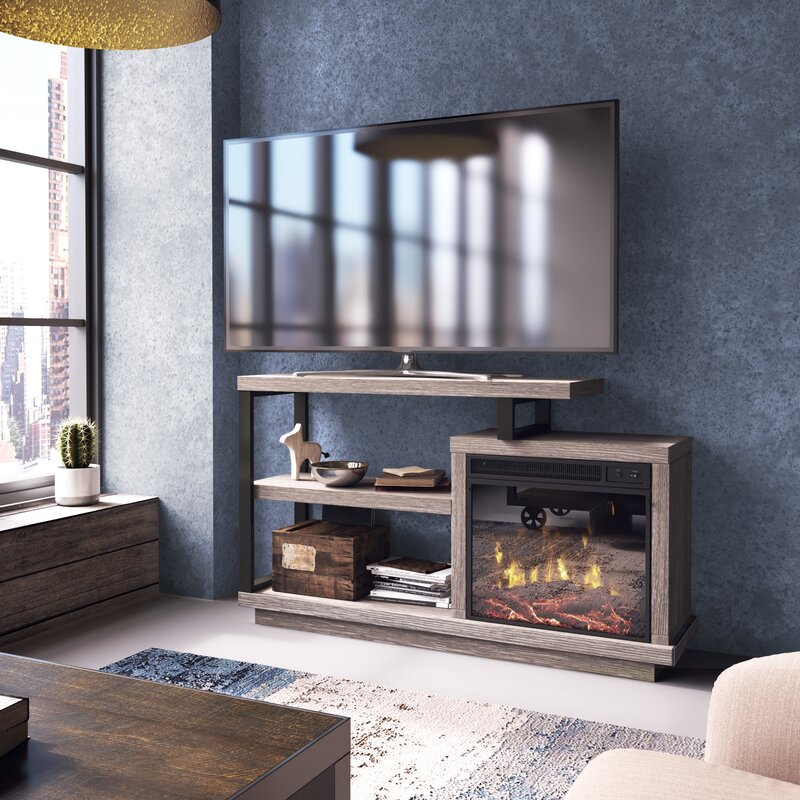 Ivy Bronx Louann Tv Stand For Tvs Up To 55 With Fireplace Reviews