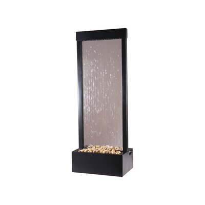 Bluworld Gardenfall Metaline Metal/Glass Center Mount Fountain Size: Small, Frame Color: Black Oxide