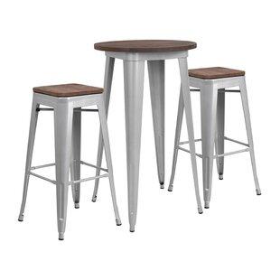 Mudge Round 3 Piece Pub Table Set