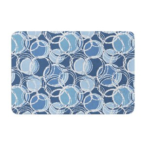 Simple Circles by Julia Grifol Bath Mat