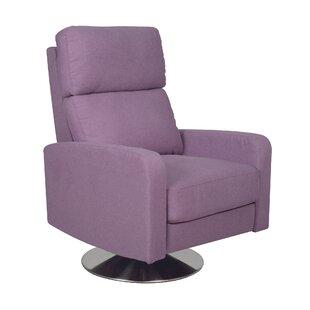 Purple Swivel Leather Recliners Youll Love Wayfair
