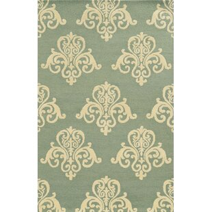 Chios Hand-Tufted Light Blue/Beige Area Rug ByMeridian Rugmakers
