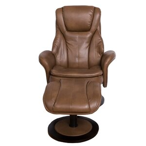 Pinero High Back Manual Swivel Recliner with Ottoman